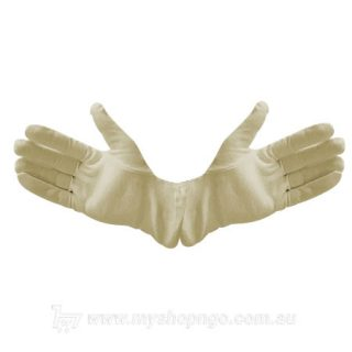 Knitted Cotton Inner Liner Gloves - Beige