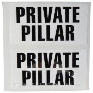 Private Pillar Black and White Label