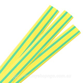 Raychem LV Thin Wall Heatshrink Tube 10/5 Green Yellow