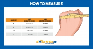 how to measure rubber electrician gloves