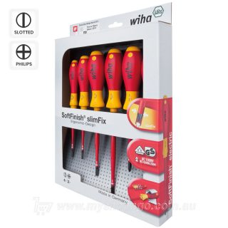Wiha 1000v slimFix Screwdriver 6-Piece Set