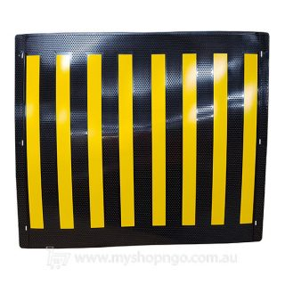 Pole Marker Black Yellow 700x600mm