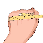diagram explaining how to measure your hand to find the right size of glove