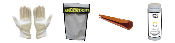 Electrical glove bags, glove liners, talc and air tool