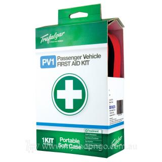 trafalgar passenger vehicle first aid kit brady 876474