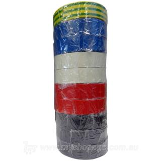 Rainbow Pack PVC Electrical Tape Assorted