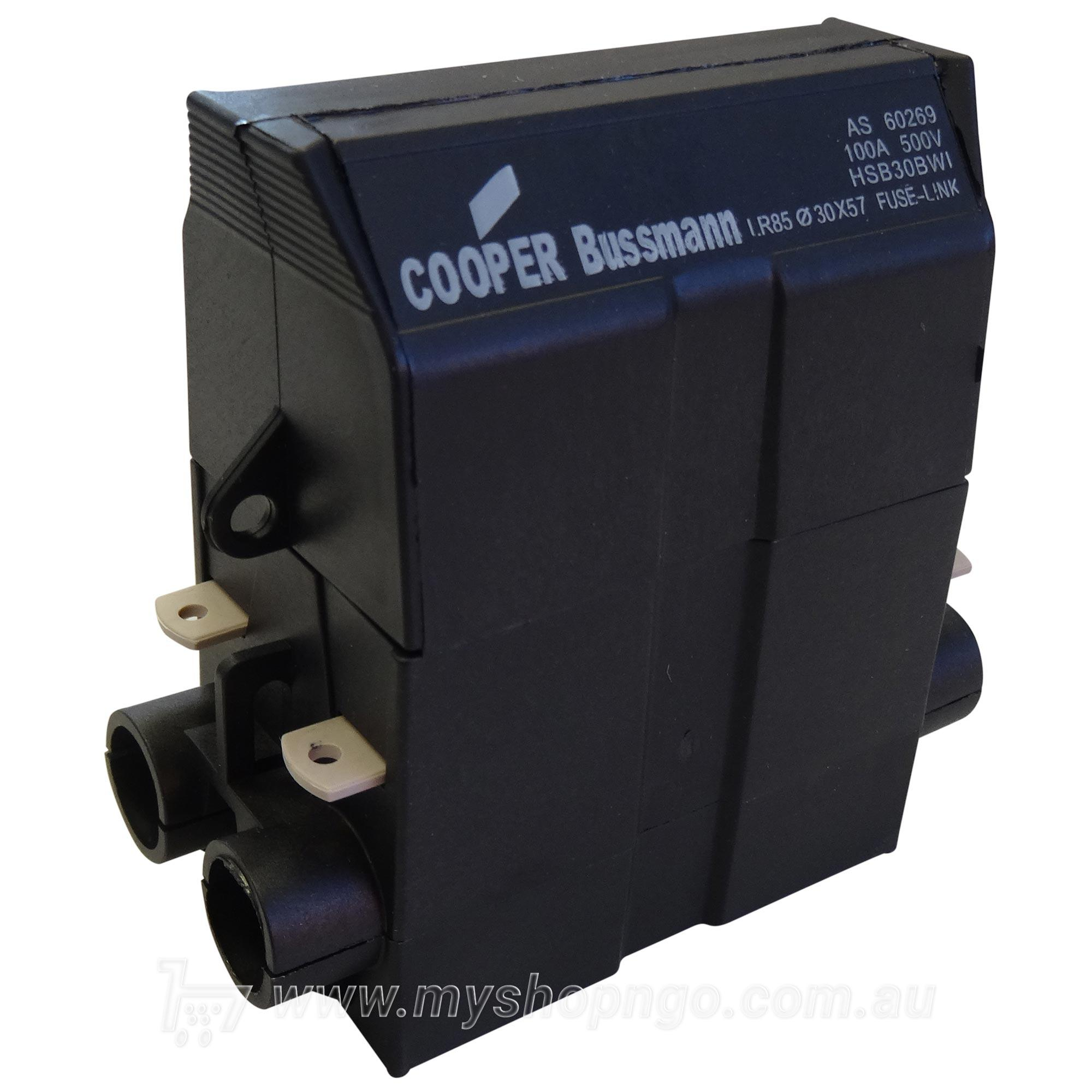 Cooper Bussmann HSB30BWI House Service Fuse Holder 100AMP. Touch to zoom