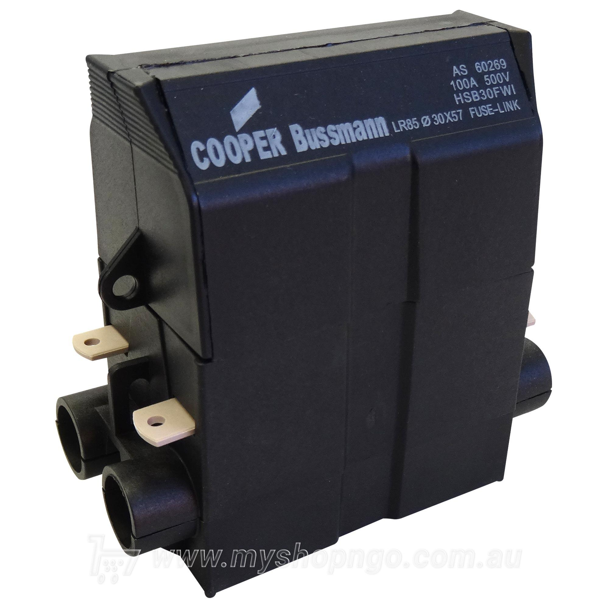Cooper Bussmann Hsb30fwi House Service Fuse Holder 100 Amp Printed Circuit Board Holders Fuseholderservice 100a Blk Front 30x57i 100amp