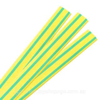 Raychem LV Thin Wall Heatshrink Tube 12/6 Green Yellow