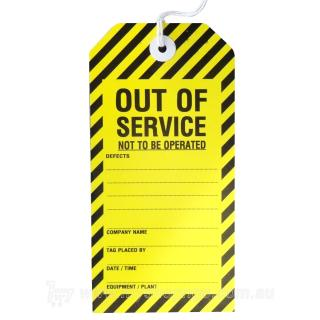 OUT OF SERVICE Safety Tag