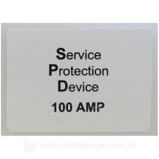 Service Protection Device 100a Label