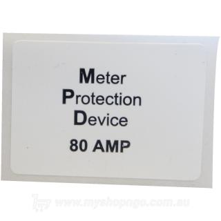 Meter Protection Device 80a Label