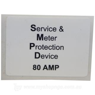 Service & Meter Protection Device Label 80a