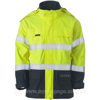 Hi Vis FR Wet Weather Shell Jacket BJ8110T-TT01