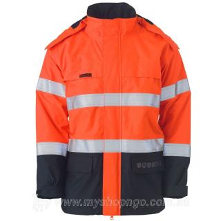 Hi Vis FR Wet Weather Shell Jacket BJ8110T-TT02